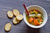 Sebze çorbası — Stok fotoğraf