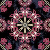 Floral mandala seamless pattern. — Cтоковый вектор