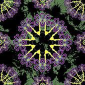 Floral mandala seamless pattern. — Stok Vektör