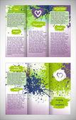 Design of the brochure. — Stock Vector