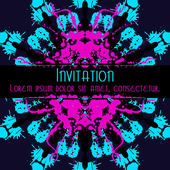 Scary Invitation Card with blots and splatters. — Stock Vector