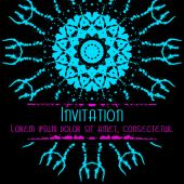 Scary Invitation Card with blots and splatters. — Vettoriale Stock