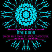 Scary Invitation Card with blots and splatters. — Wektor stockowy