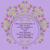Cartes d'invitation de mariage avec les éléments floraux. — Vecteur
