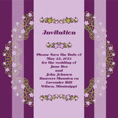 Wedding invitation cards with floral elements. — Stock Vector
