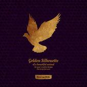 Creative design with golden silhouete. — Stock Vector