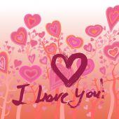 Grunge valentine card with hand drawn text.  — 图库矢量图片