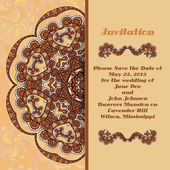 Invitation card with ornament elements. — Stock Vector