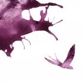 Watercolor abstract  bird. — Stock Vector