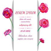 Card with watercolor flowers — Διανυσματικό Αρχείο