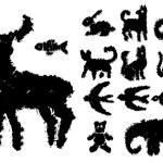 Set of grunge ink animals — Stock Vector #77276322