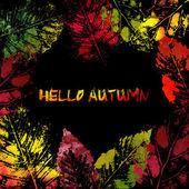 Impronte di foglie di autunno colorato — Vettoriale Stock