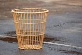 Basket on the wet stadium — Stock Photo