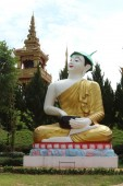 Image of Buddha name Phra upakut  — Stock Photo