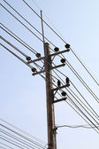 Электричество пост — Стоковое фото