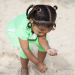 Small child on playground with sand — Stock Photo #56165993