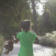 Toddler with dark skin walking — Stock Photo #56182235