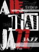 Vintage Jazz  Poster Background — ストックベクタ