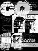 Sfondo di caffè. — Vettoriale Stock