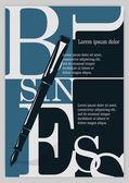 Business background, typographics. — Stock Vector