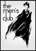 Mens club — Stock Vector