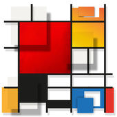 Geometric suprematism pattern — Stock Photo