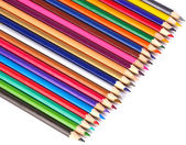 Color pencils isolated on white background — Stockfoto