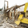 The demolition of the old dilapidated housing. — Stock Photo #66008023