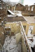 House demolished walls . — Stock Photo