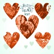 Set of grunge hearts — Stock Vector #52182487