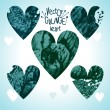 Set of grunge hearts — Stock Vector #52182655