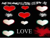Happy valentine with ribbons — Stockfoto
