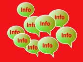 Info and news with speech bubbles — Stock Photo