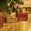 Presents under the Christmas tree — Stock Photo #61928279