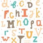 Multicolor hand drawn alphabet. — Stock Vector #51963561