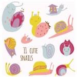 Cute snails set. — Stock Vector #51965019