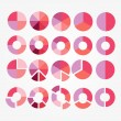 Set of colorful circle diagram for your design — Stock Vector #51965143