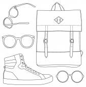 Set of accessorize — Stock Vector