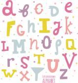 Multicolor hand drawn alphabet. — Stock Vector