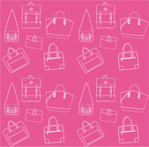 Seamless pink pattern with bags. — Stock Vector