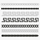 Set of graphic and decor design elements. — Stock Vector