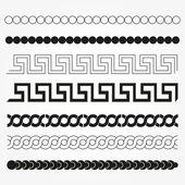 Set of graphic and decor design elements. — Vector de stock