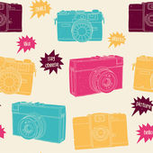 Photography seamless pattern. — Stock Vector