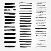 Big set of brushes. Abstract hand drawn ink strokes. — Stock Vector