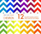 Colorful zigzag seamless pattern. — Stock Vector