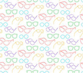 Colorful sunglasses seamless pattern — Stock Vector