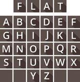 Modern alphabet. Flat letters design. Classic type. — Stock Vector