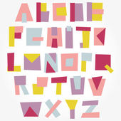Abstract geometry alphabet. — Stockvector