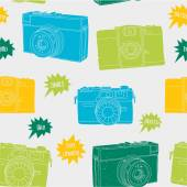 Photography seamless pattern — Stock Vector