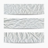 Crumpled paper texture banners — Vettoriale Stock